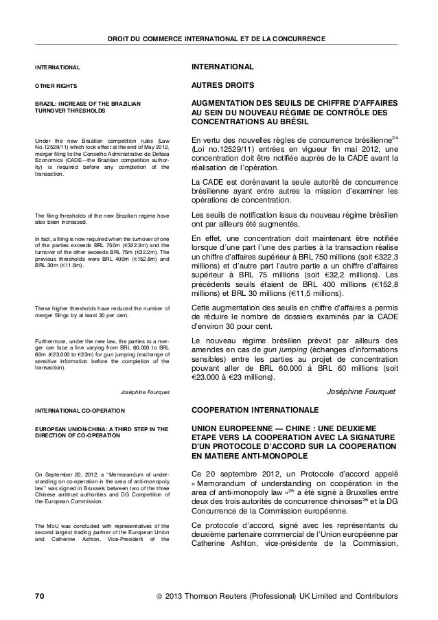 DROIT DU COMMERCE INTERNATIONAL ET DE LA CONCURRENCEINTERNATIONAL                                               INTERNATIO...