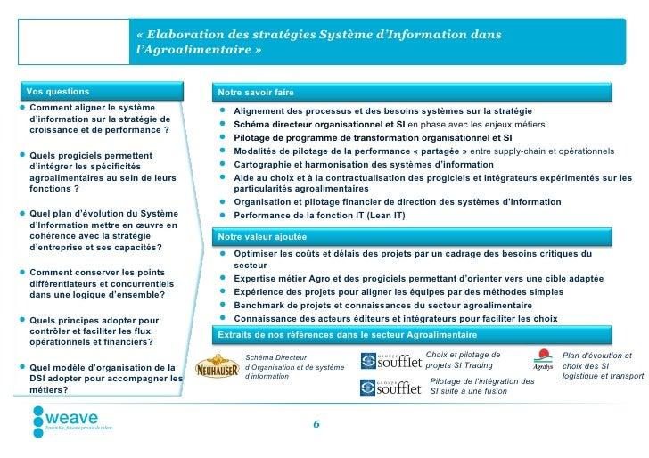 « Elaboration des stratégies Système d'Information dans                           l'Agroalimentaire » Vos questions       ...