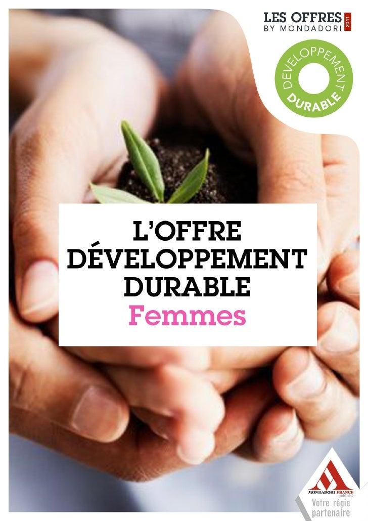 Offre Mondadori - Développement Durable Femmes
