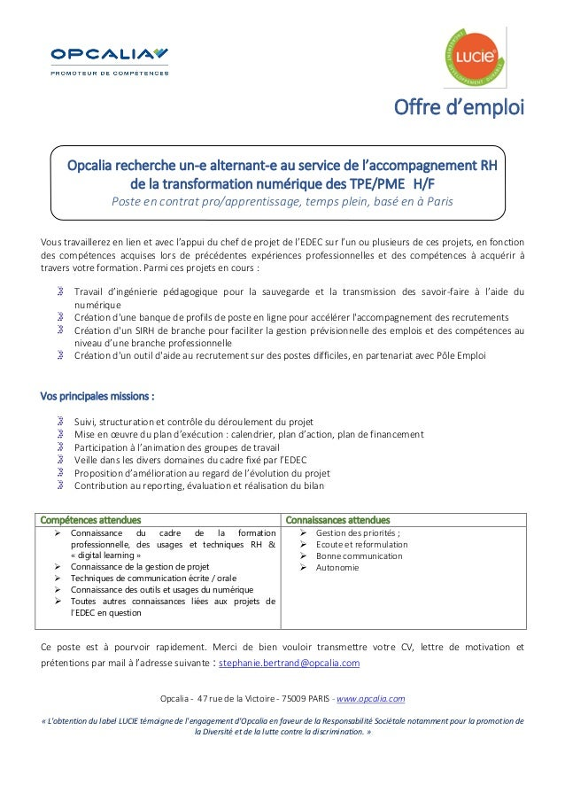 job    offre alternance digital rh