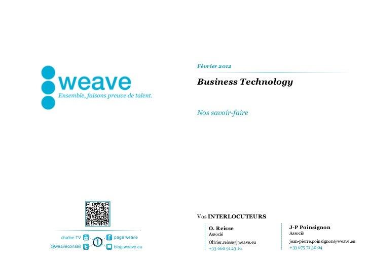 Février 2012                                Business Technology                                Nos savoir-faire           ...
