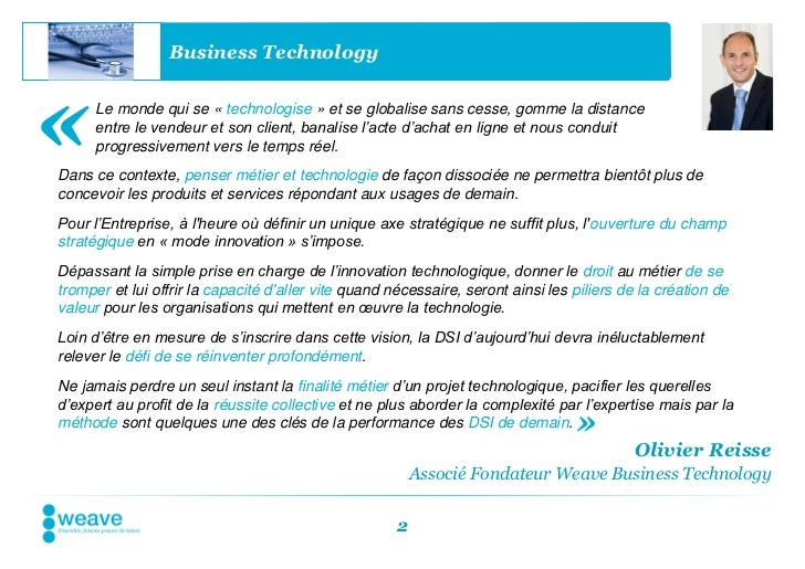Business Technology«     Le monde qui se « technologise » et se globalise sans cesse, gomme la distance      entre le vend...