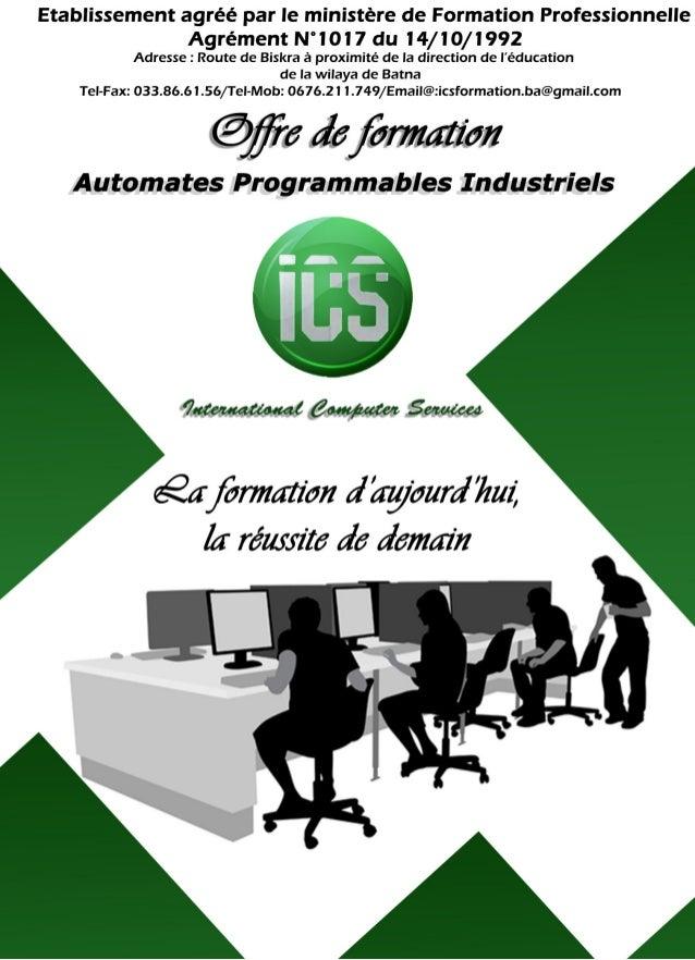 Formation sur les Automates Programmables Industriels
