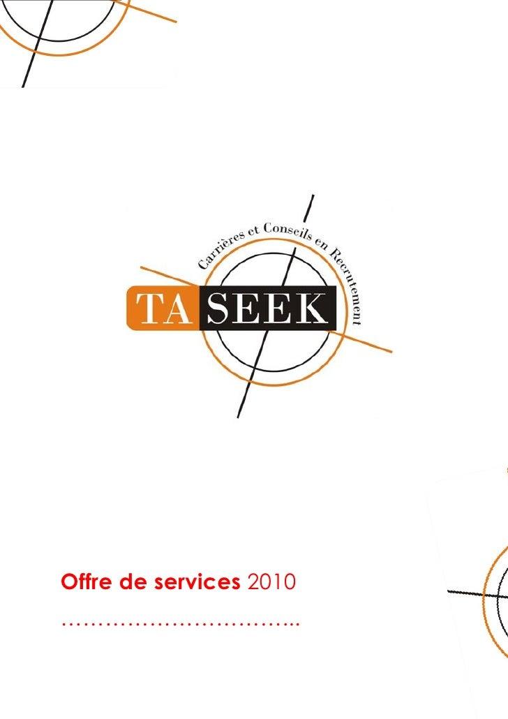Offre De Service Taseek