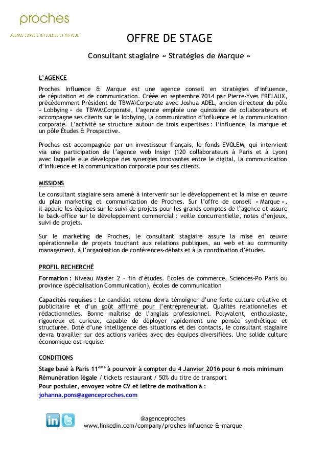 Offre De Stage Proches Pôle Consultant Stagiaire
