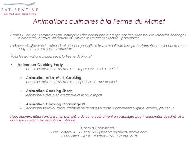 Animations culinaires à la Ferme du ManetDepuis 10 ans nous proposons aux entreprises des animations d'équipe par la cuisi...