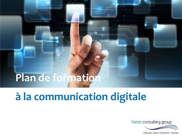 Plan de formation à la communication digitale