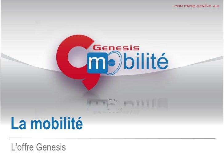 La mobilitéL'offre Genesis                  1 | 28
