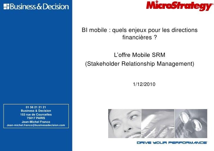 BI mobile : quels enjeux pour les directions                                                         financières ?        ...