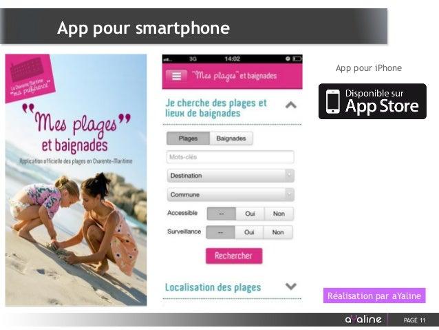 PAGE 11 App pour iPhone Réalisation par aYaline App pour smartphone