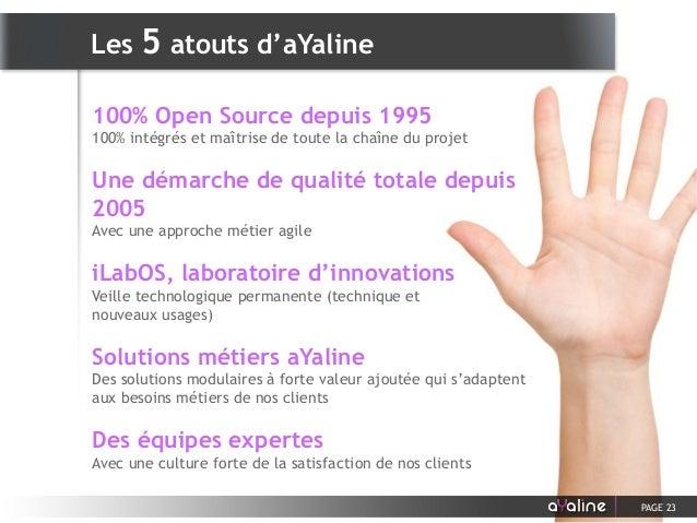 100% Open Source depuis 1995 100% intégrés et maîtrise de toute la chaîne du projet Une démarche de qualité totale depuis ...