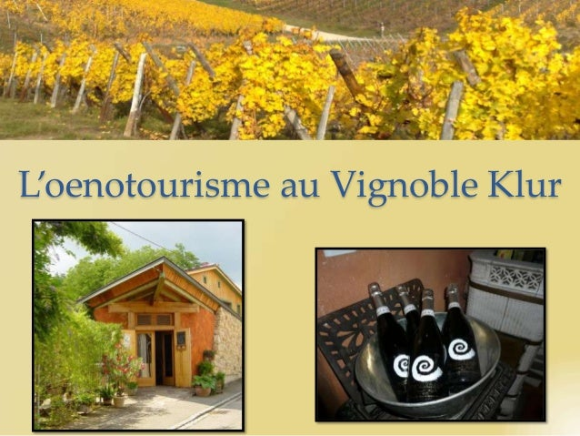 L'oenotourisme au Vignoble Klur