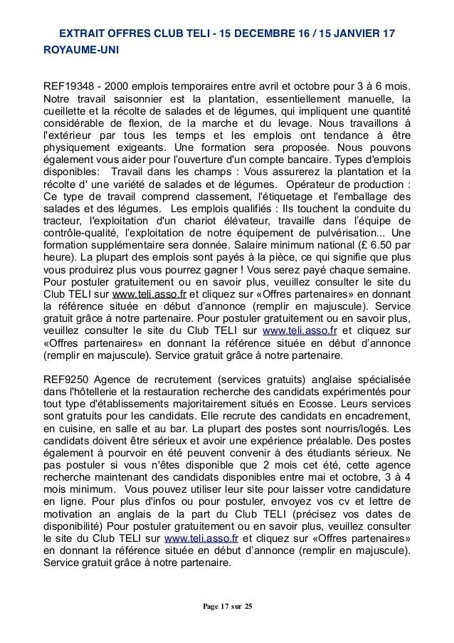 ROYAUME-UNI REF19348 - 2000 emplois temporaires entre avril et octobre pour 3 à 6 mois. Notre travail saisonnier est la pl...
