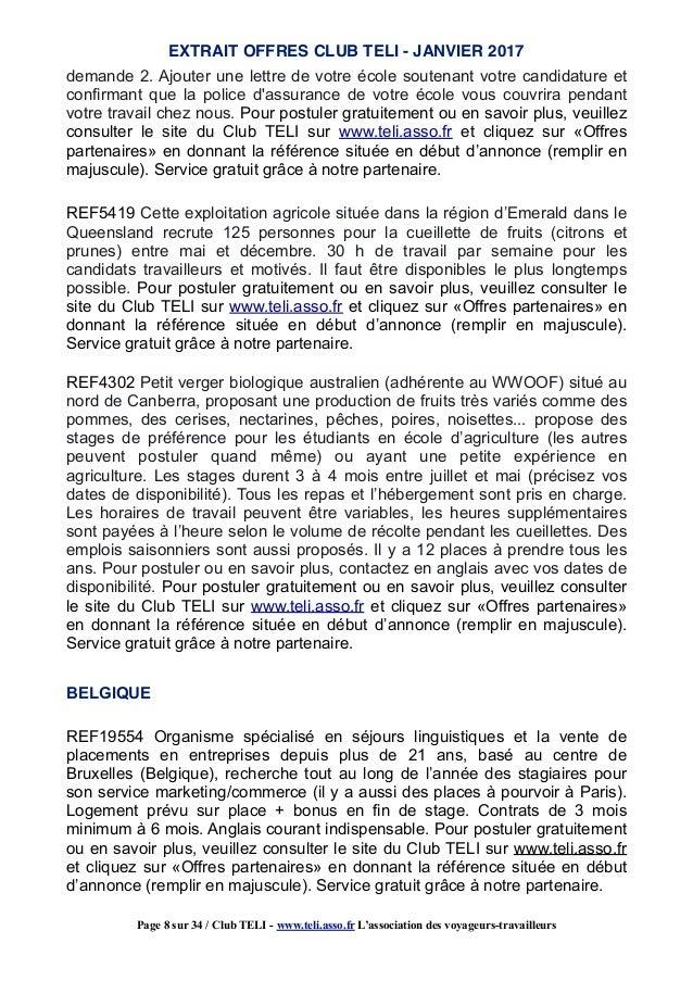 janvier 17   offres partenaires jobs d u0026 39 ete a l u0026 39  u00e9tranger stage et bene u2026