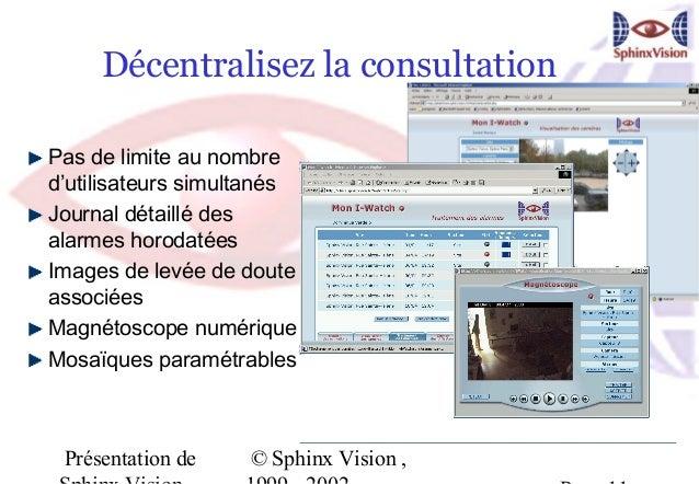 Décentralisez la consultationPas de limite au nombred'utilisateurs simultanésJournal détaillé desalarmes horodatéesImages ...