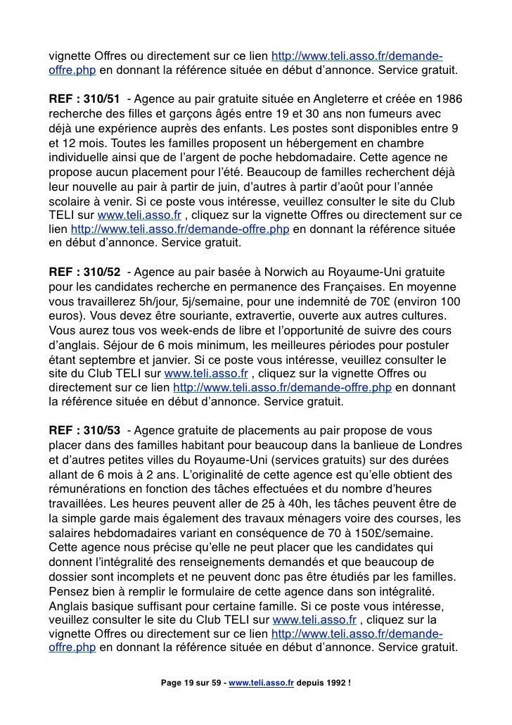 vignette Offres ou directement sur ce lien http://www.teli.asso.fr/demande- offre.php en donnant la référence située en dé...
