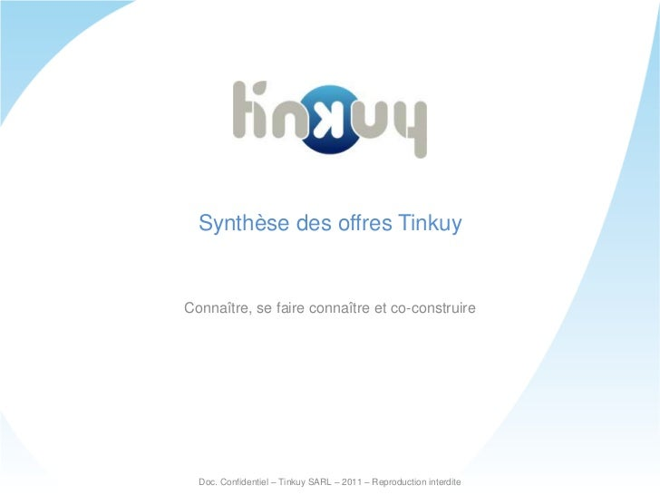Synthèse des offres Tinkuy