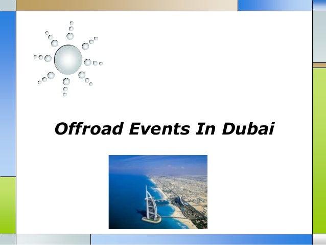 Offroad Events In Dubai