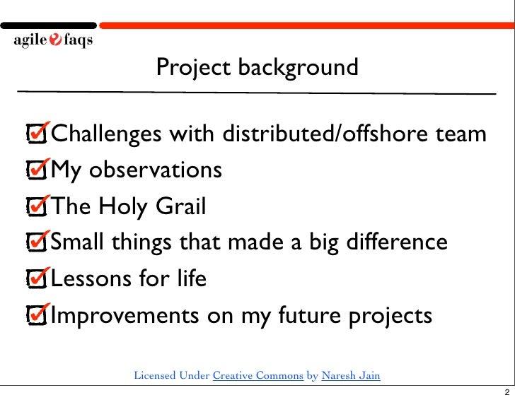 Offshore Agile Maintenance Slide 2