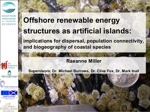 Offshore renewable energy structures as artificial islands: implications for dispersal, population connectivity, and bioge...