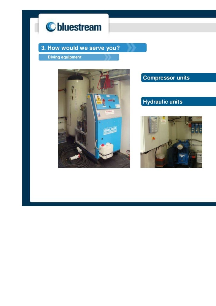 3. How would we serve you?  Diving equipment                             Compressor units                             Hydr...