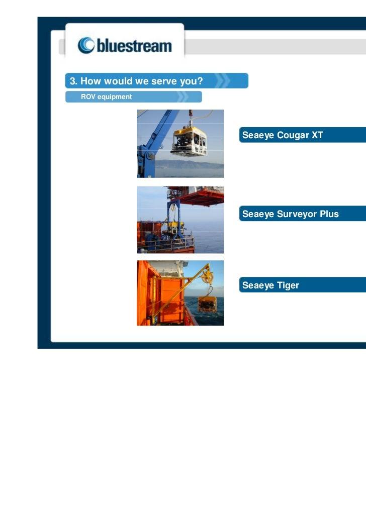 3. How would we serve you?  ROV equipment                             Seaeye Cougar XT                             Seaeye ...