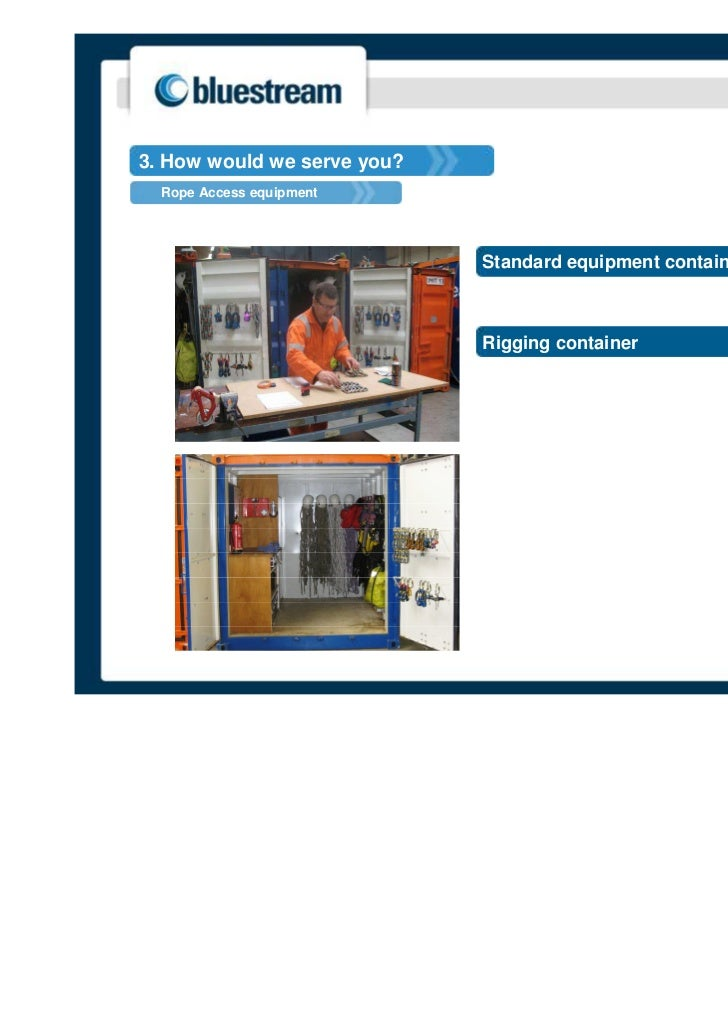 3. How would we serve you?  Rope Access equipment                             Standard equipment container                ...