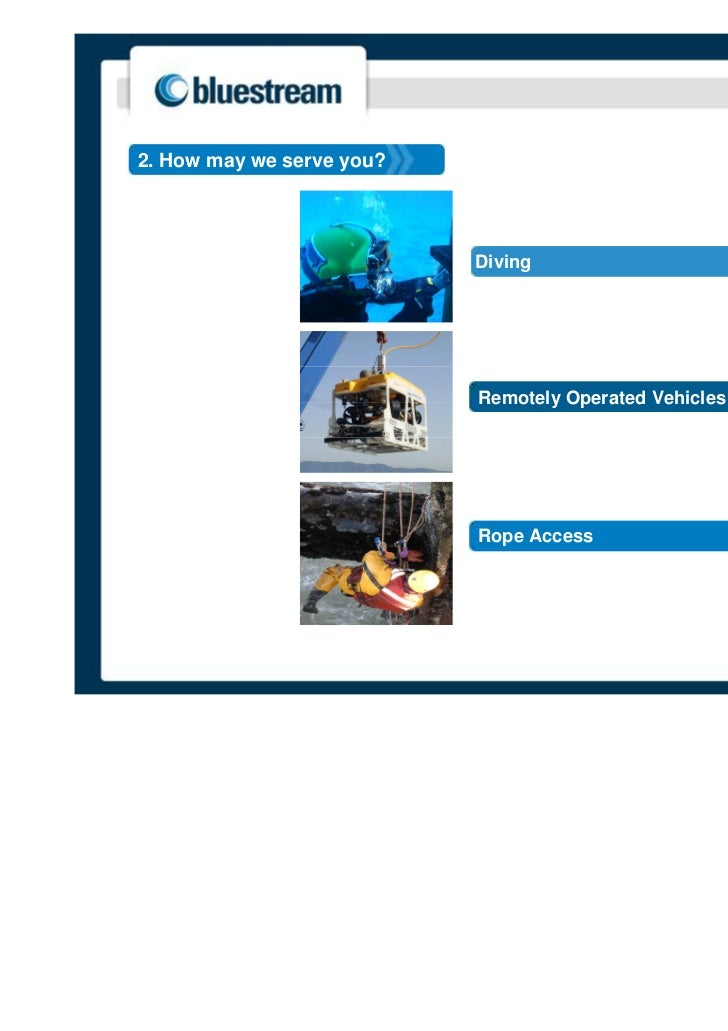 2. How may we serve you?                           Diving                           Remotely Operated Vehicles            ...