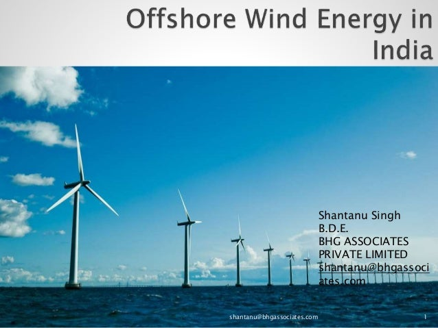 Offshore Wind Energy In India Overview