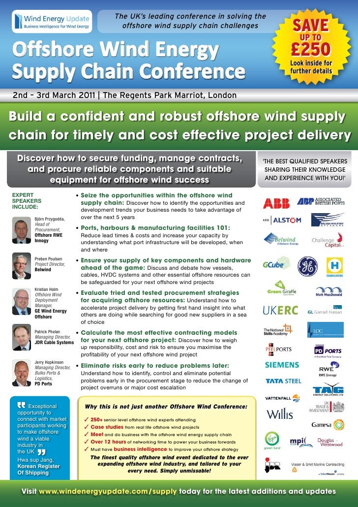 Offshore Wind Energy Supply Chain For Construction
