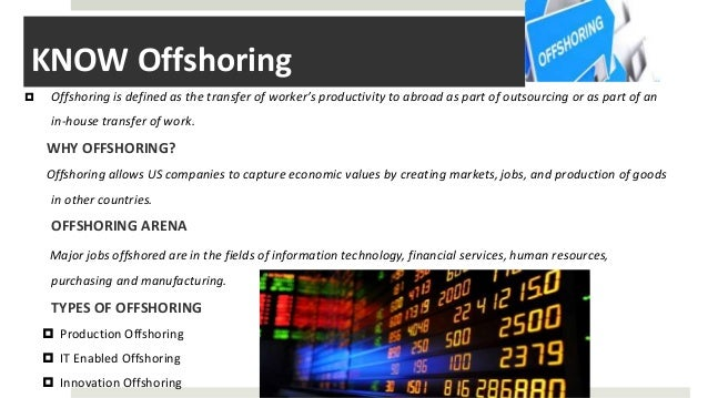 The Impact of Offshoring on Employment Paper