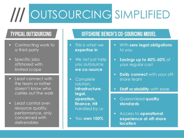 Offshoring and Co-sourcing