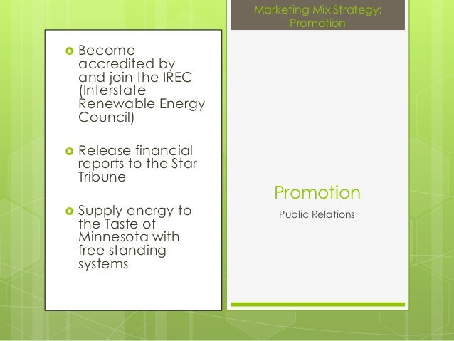  Becomeaccredited byand join the IREC(InterstateRenewable EnergyCouncil) Release financialreports to the StarTribune Su...