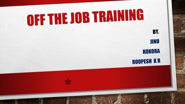 Off the job training methods