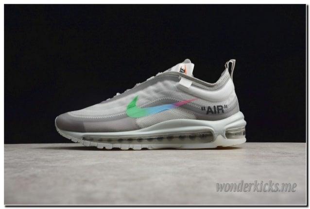 Off White X Nike Air Max 97 Grey Rainbow AJ4585 012