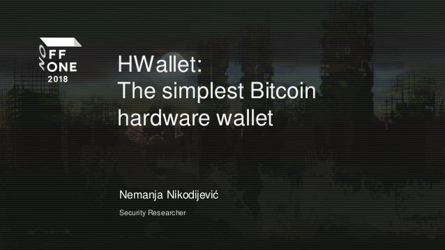 HWallet: The simplest Bitcoin hardware wallet