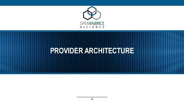 PROVIDER ARCHITECTURE 18