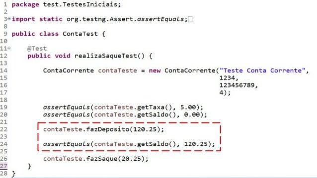 4. Data Driven Testing ○ O que é Data Driven? ■ Testes orientados a dados ■ Uso de matrizes (tabela-verdade) ○ Quando util...