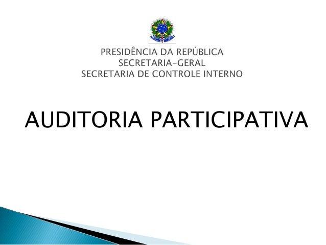 AUDITORIA PARTICIPATIVA