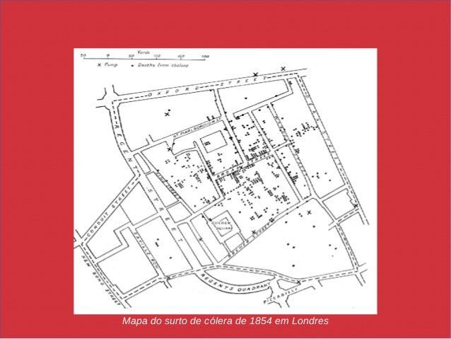 Mapa do surto de cólera de 1854 em Londres