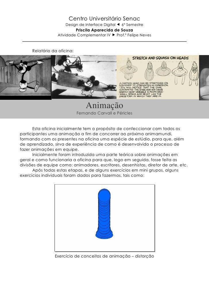 Centro Universitário Senac                      Design de Interface Digital     6º Semestre                              P...