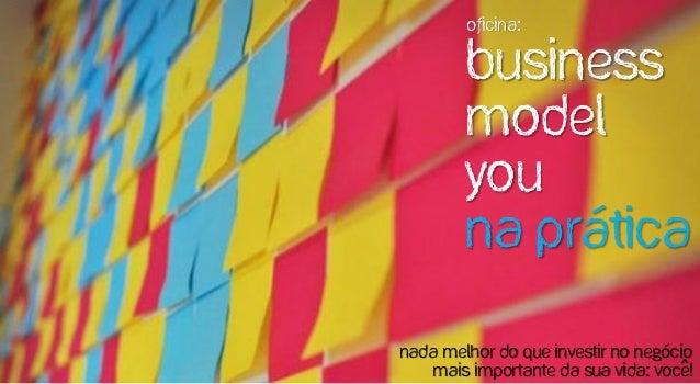 Oficina: Business Model You na prática Nada melhor do que investir no negócio mais importante da sua vida: Voce!^