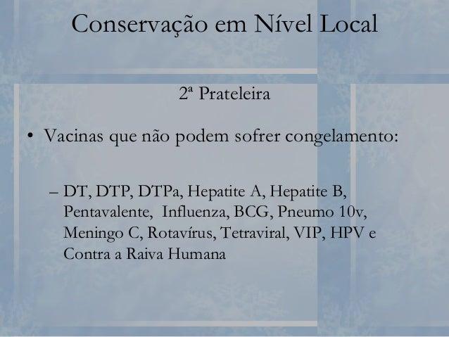 Conservação em Nível Local Geladeira Inadequada para Conservação de Vacinas