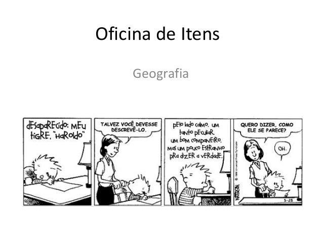 Oficina de Itens Geografia