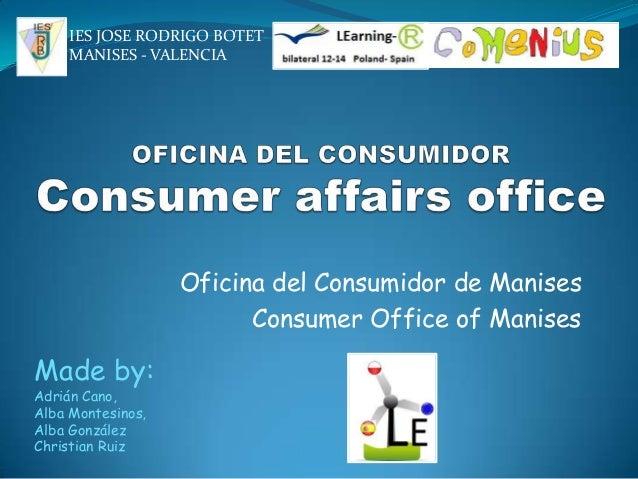 Oficina del consumidor adrian cano for Oficina del consumidor valladolid