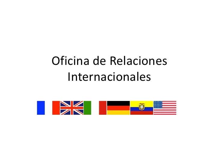 oficina de relaciones internacionales uax