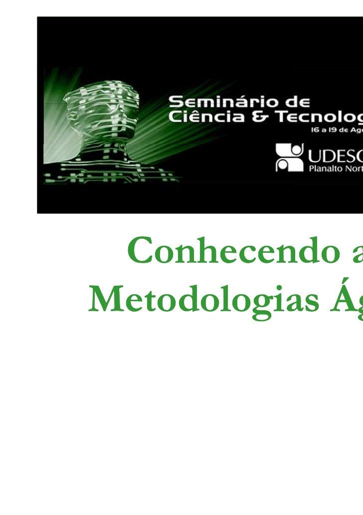 Conhecendo asMetodologias Ágeis