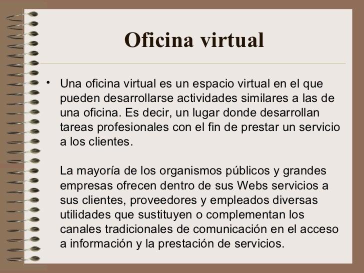 Oficina moderna for Que es una oficina virtual