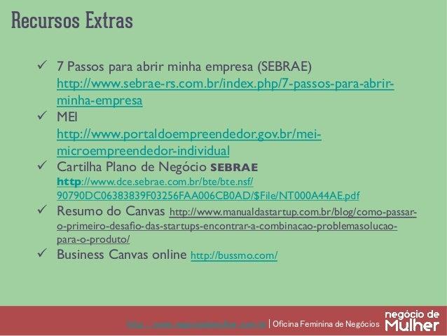 Oficina Feminina de Empreendedorismo - Negócio de Mulher