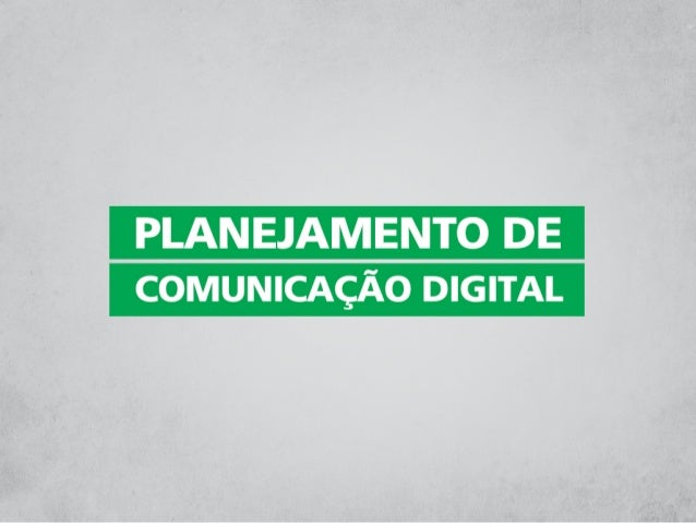 Oficina Planejamento de Comunicação Digital